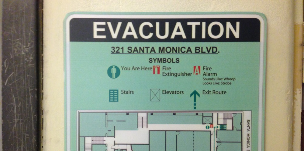 Evacuation Sign Interior Sign
